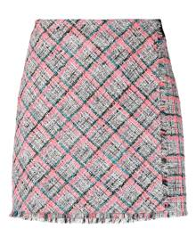 Karl Lagerfeld Summer tweed-boucle skirt - White