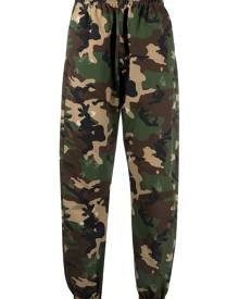 Off-White camouflage-print logo track pants - Green