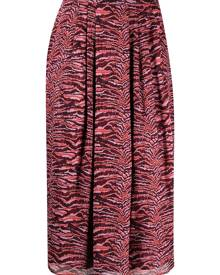 Roseanna animal-print pleated skirt - Pink
