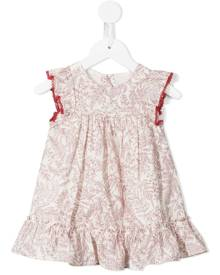 Tartine Et Chocolat botanical-print ruffle-trim dress - Red