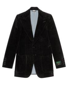 Gucci velvet single-breasted blazer - Black