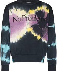 Aries No Problemo tie-dye sweatshirt - Blue