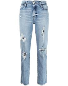FRAME ripped slim-fit jeans - Blue