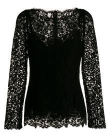 Dolce & Gabbana long-sleeved lace blouse - Black