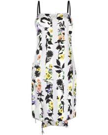 Off-White floral-print tie detail dress - Grey