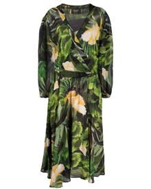 LIU JO tropical-print midi dress - Green