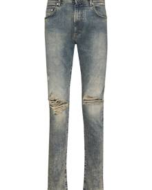 Represent ripped-detailing skinny jeans - Blue
