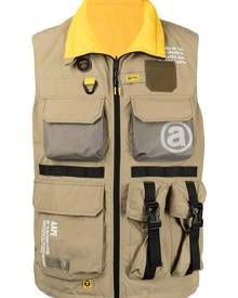AAPE BY *A BATHING APE® zip-up utility vest - Green