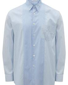 JW Anderson RELAXED STRIPE PATCHWORK SHIRT - Blue