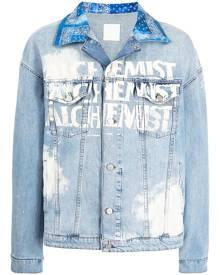 Alchemist logo-print denim jacket - Blue