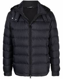 Valentino V-print puffer jacket - Blue