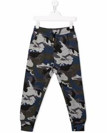 Zadig & Voltaire Kids camouflage print track pants - Blue