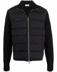 Moncler padded-front zipped cardigan - Black