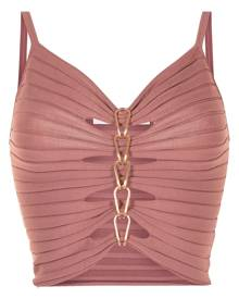 Dion Lee central chain-detail cami top - Pink