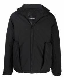 A-COLD-WALL* logo zipped hooded jacket - Black