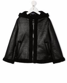 Neil Barrett Kids hooded zipped jacket - Black