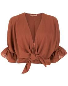 Clube Bossa Rubin tie-front blouse - Brown