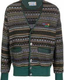 Missoni Pre-Owned 1990s geometric-knit cardigan - Green