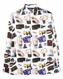 Etudes Illusion all over print shirt - White