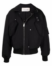 1017 ALYX 9SM flap pockets classic collar bomber jacket - Black