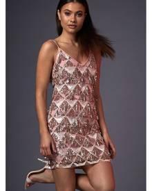 ISAWITFIRST.com Pink Cami Sequin Tassel Dress - 6 / PINK