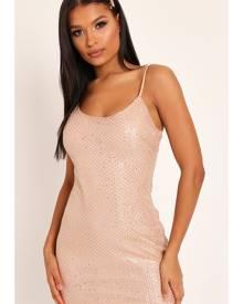 ISAWITFIRST.com Gold Sequin Cami Dress - 6 / METALLIC