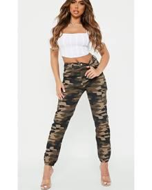 ISAWITFIRST.com Khaki Camo Print Cargo Pants - 4 / GREEN