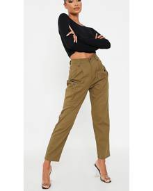 ISAWITFIRST.com Khaki Cargo Pocketed Jean - 4 / GREEN