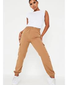 ISAWITFIRST.com Camel Utility Trouser With Side Pocket - 4 / BEIGE