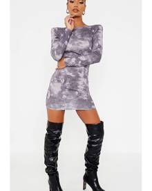 ISAWITFIRST.com Grey Jersey Tie Dye Backless Bodycon Dress - 4 / GREY