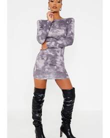 ISAWITFIRST.com Grey Jersey Tie Dye Backless Bodycon Dress - 4 / GREY