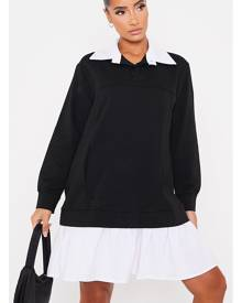 ISAWITFIRST.com Black 2 In 1 Sweat Jumper Shirt Dress - 4 / BLACK