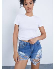 ISAWITFIRST.com White Ruched Side Ribbed Crop Top - 4 / WHITE