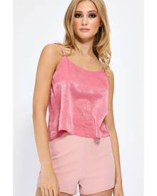 ISAWITFIRST.com Pink Cropped Cami Top - 6 / PINK