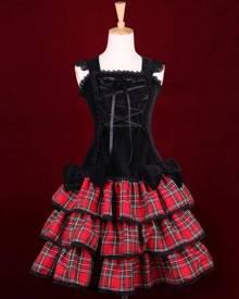 milanoo.com Milanoo Punk Lolita Dress Last Icy Kiss Op Lolita One Piece Dress