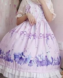 milanoo.com Milanoo Sweet Lolita JSK Dress Dreamland Flower Sea Of Bunny Printed Lolita Jumper Skirts