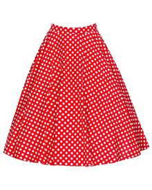 milanoo.com Vintage Short Skirt Polka Dot Print High Waisted Women Skirt