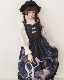 milanoo.com Milanoo Classical Lolita JSK Dress Dunhuang Cat Wall Painting Print Lolita Jumper Skirts