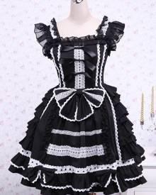 milanoo.com Milanoo Bandage Lace Cotton Gothic Lolita Dress