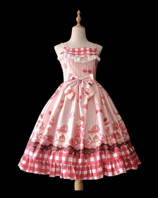 Pink and gold pearly lolita dress Bitter /& Sweet lolita dress costume