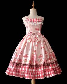 milanoo.com Milanoo Sweet Lolita JSK Dress Infanta Fruit Pattern Lolita Jumper Skirts