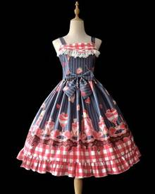 milanoo.com Sweet Lolita JSK Dress Infanta Fruit Pattern Lolita Jumper Skirts