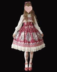 milanoo.com Classic Lolita JSK Dress Infanta Purple Short Sleeves Bows Lolita Jumper Skirts