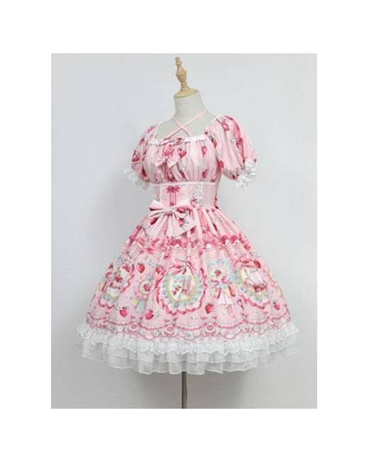 Lo Skirt. Long Sleeve Evening Dress Cake Dress F009---Pink Silk Blend Prairie Dress Maternity Dress Lolita Dress Smock Dress