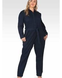 Standards & Practices Janeen Light Weight Denim Boiler Suit in Navy Blue Size 1X