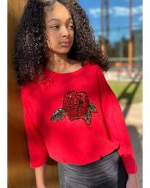 Pavement amore red reversible sequin tee