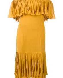 Jean Louis Scherrer Vintage - off the shoulder dress - women - Silk - L - YELLOW & ORANGE