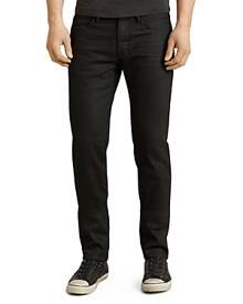 John Varvatos Star Usa Bowery Slim Straight Fit Jeans in Jet Black