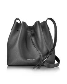 Lancaster Paris Designer Handbags, Pur & Element Saffiano Calf-Leather Bucket Bag