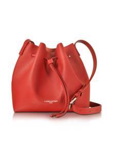 Lancaster Paris Designer Handbags, Pur & Element Saffiano Leather Bucket Bag